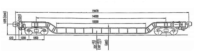 3901 транспортер 4 осный площадочный пружина задняя транспортер т4