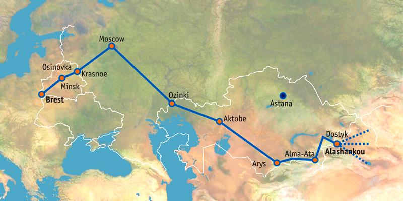 Kazakhstan Russia Map.Kazakhstan Vector Belarusian Railway